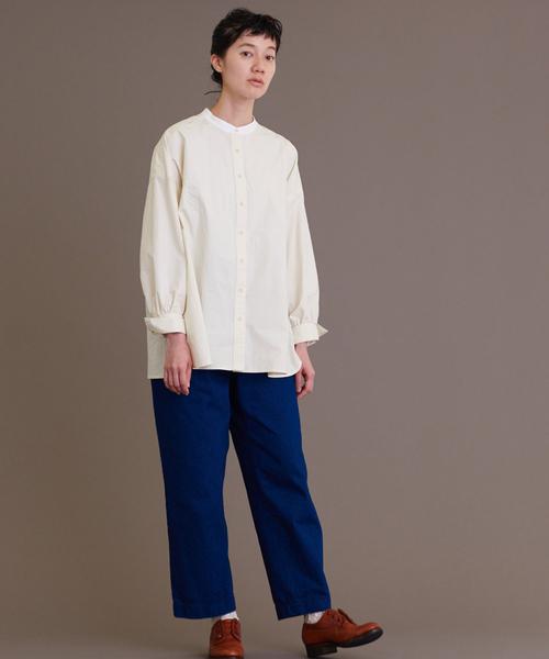 [chambre de charme] Malle ムジと柄のワークシャツ