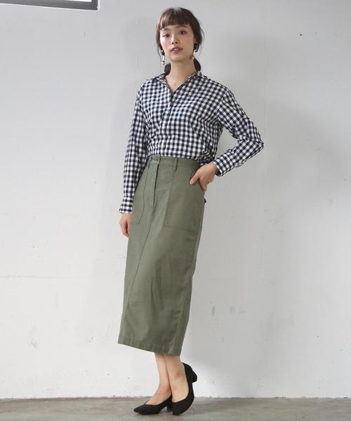 [coen] ストレッチベイカータイトスカート