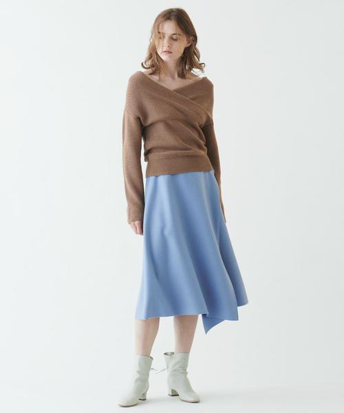 [TOMORROWLAND] ラムメルトン アシンメトリーフレアスカート