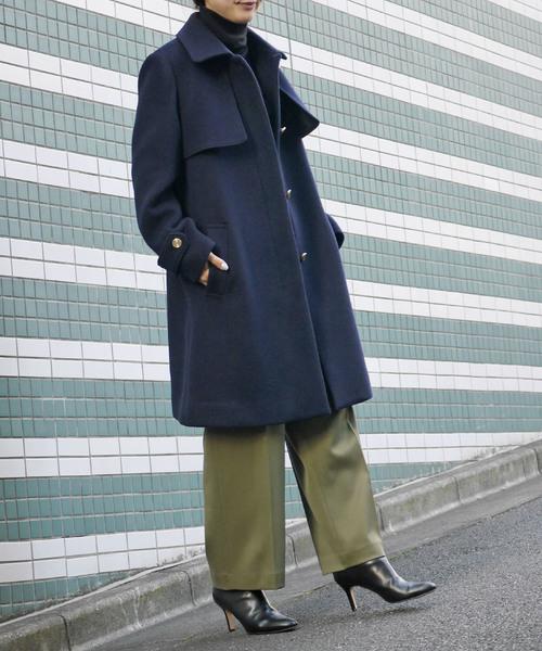 [allureville] メリンプビーバーステンカラーコート