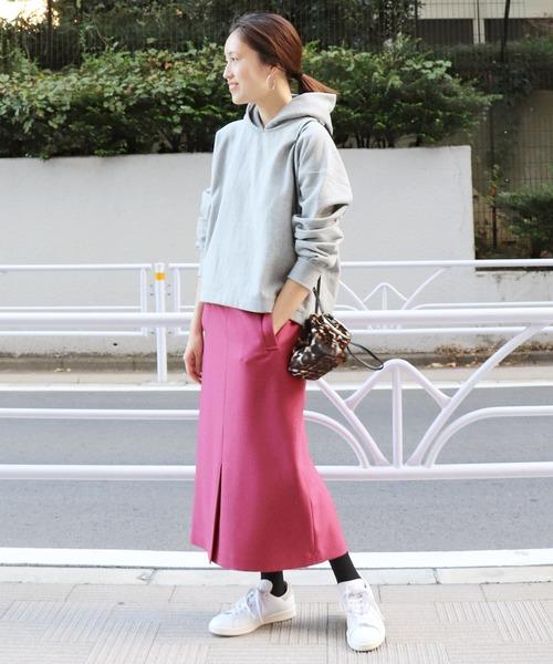 [IENA] ウーリッシュフラノサイドポケットスカート