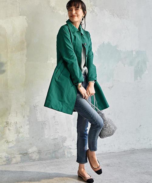 [green label relaxing] ◆SC グログラン ステンカラーコート