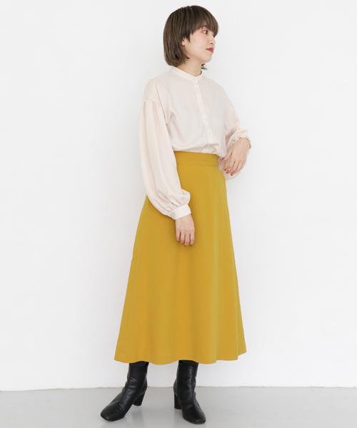 イエロー スカート