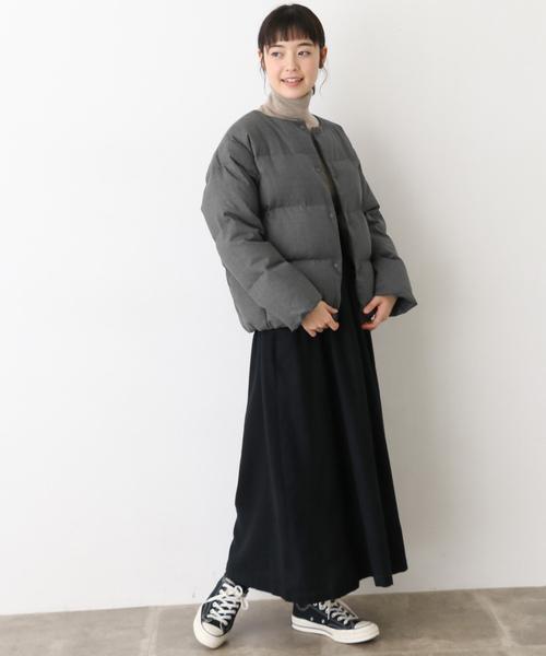 [かぐれ] ウールダウンショートジャケット