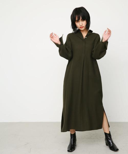 over size henley long dress