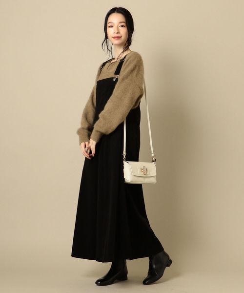 [SHIPS for women] コーデュロイジャンパースカート