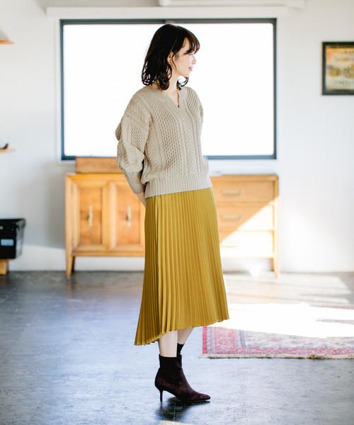 キモウサテンACプリーツスカート