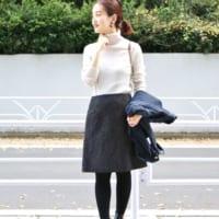 美脚見え効果もばっちり♡「台形スカート」の長さ別コーデをチェック!