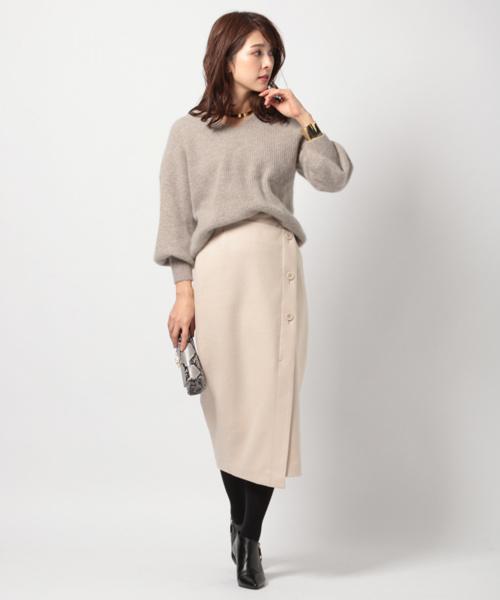 [BARNYARDSTORM] BARNYARDSTORM / フロントボタンタイトスカート