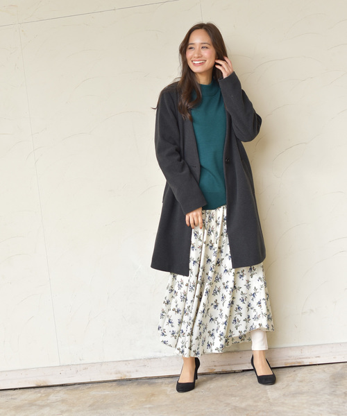 [rps] 花柄ロングスカート