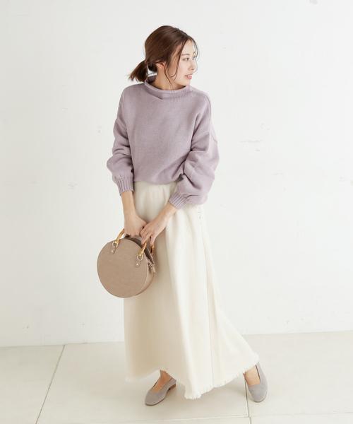 [CIAOPANIC TYPY] 甘織りデニムマキシスカート