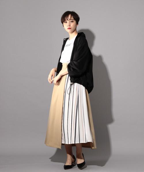 [PAGEBOY] ストライププリーツ切り替えスカート