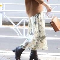 今から春まで使える「花柄スカート」が欲しい♡大人女子のカラー別コーデ特集