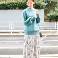 簡単に大変身♡きれい色の「ブルー系」を取り入れた冬の着こなし特集
