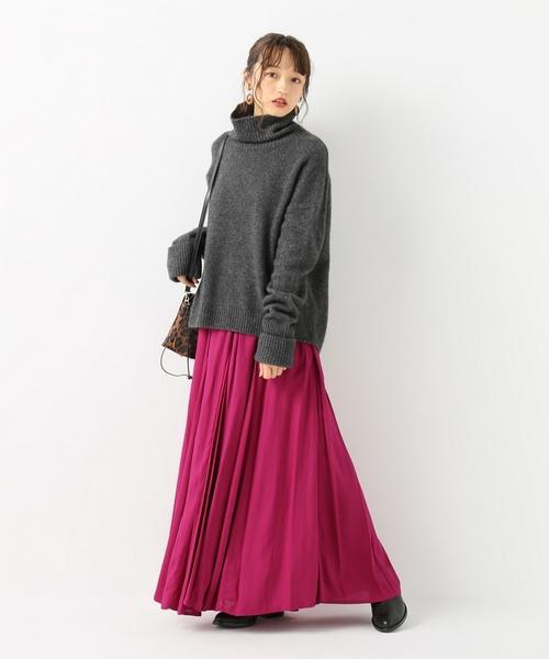 [IENA] 切り替えフレアロングスカート