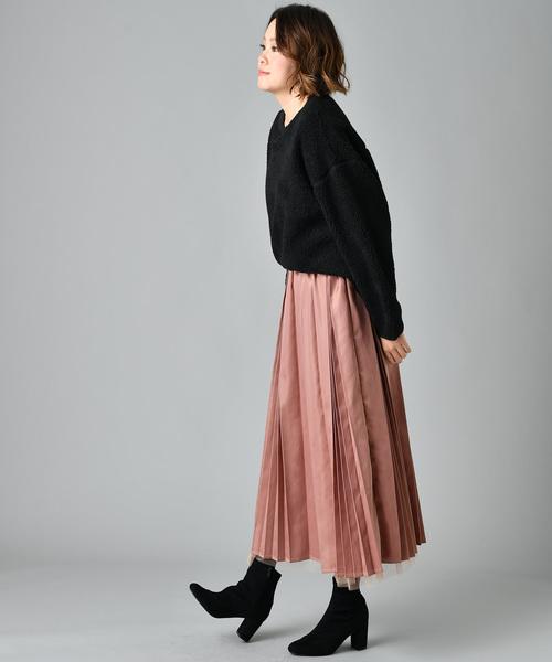 [COLLAGE GALLARDAGALANTE] 【WEB限定】サテンチュールリバーシブルスカート