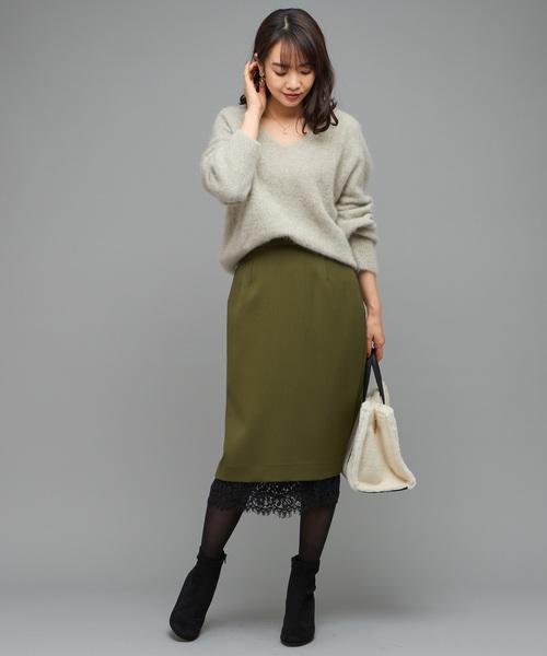 2WAYレースタイトスカート