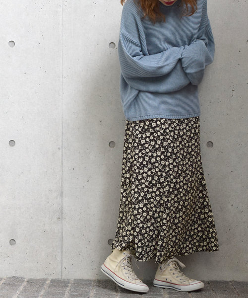 花柄プリントマーメイドスカート