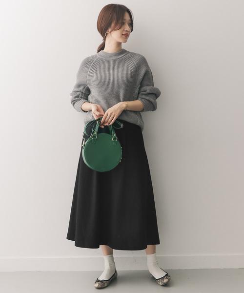 ウールフレアロングスカート