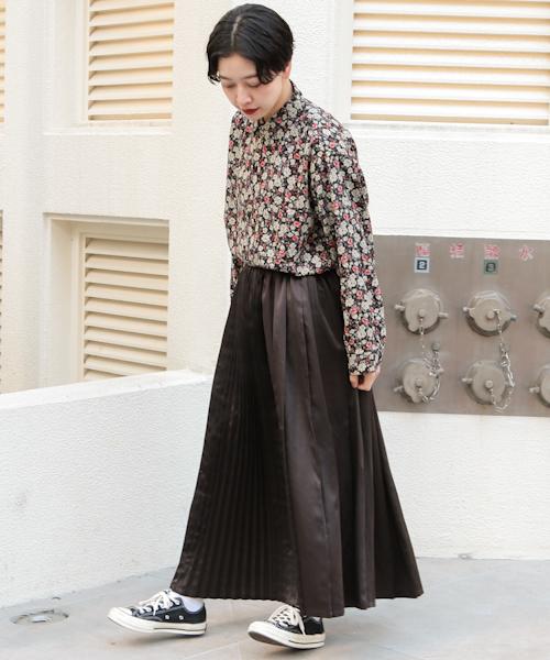 [kutir] 柄シャツ