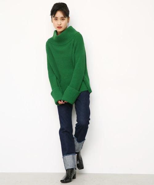 2way raglan knit tops
