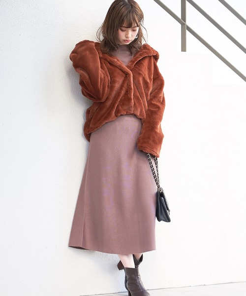 [natural couture] フード付きファーブルゾン