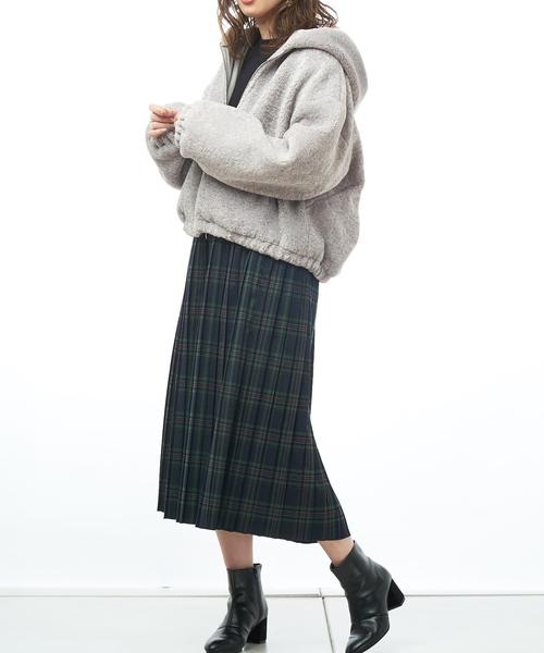 いろいろチェック柄プリーツスカート