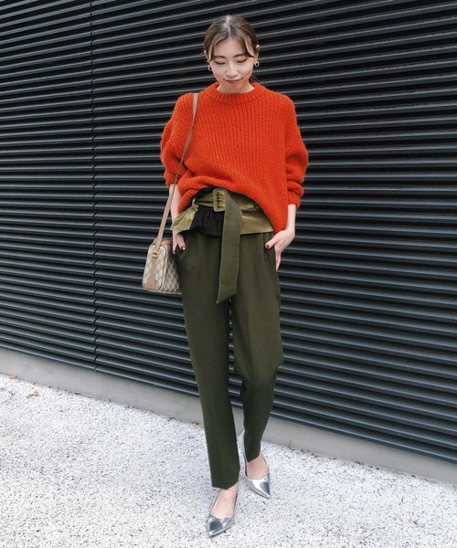 [Ameri VINTAGE] SOFT OVER CRAYON KNIT