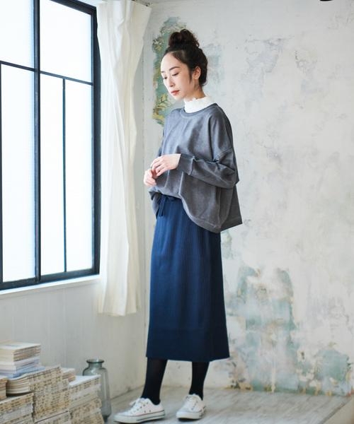 [pual ce cin] リブニットスカート