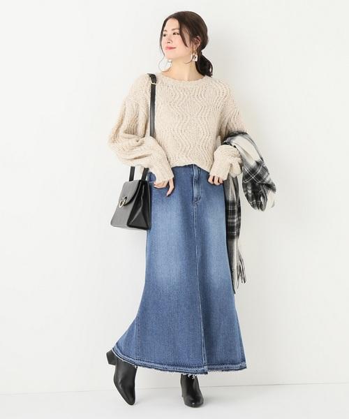 デニムトラペーズスカート
