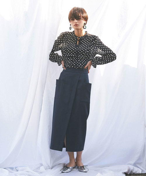 [nano・universe] ビッグポケットタイトスカート