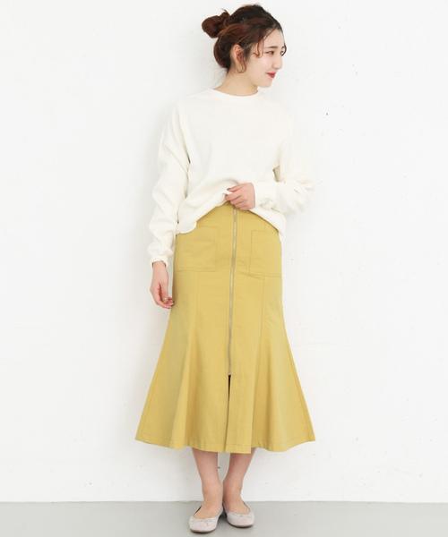 [KBF] マーメイドフロントZIPスカート