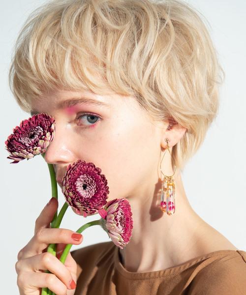 [glamb] Flowering earring / フラワーリングイヤリング