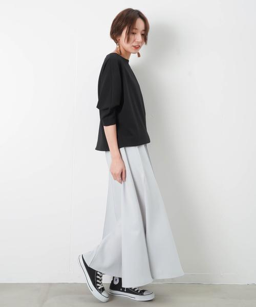 12シームステッチフレアスカート