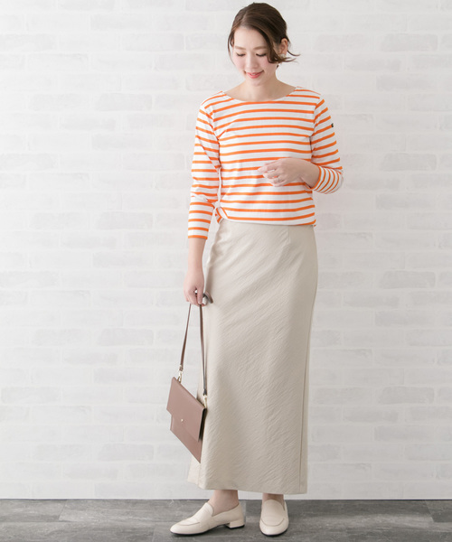 [URBAN RESEARCH ROSSO WOMEN] Le minor <別注>BACK Vボーダーカットソー