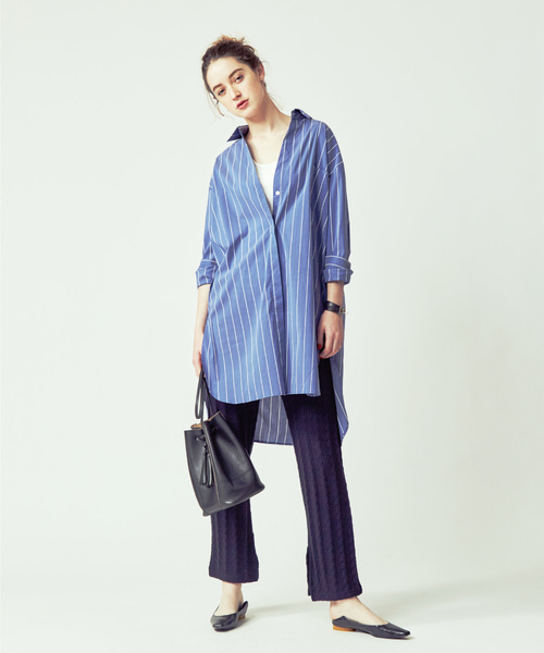 [FREAK'S STORE] ▽【WEB限定】+81BRANCA/ハチイチブランカ Stripe Shirt/ストライプシャツ