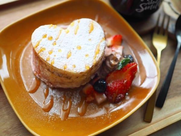ダイソー ケーキモールド バレンタイン パンケーキ