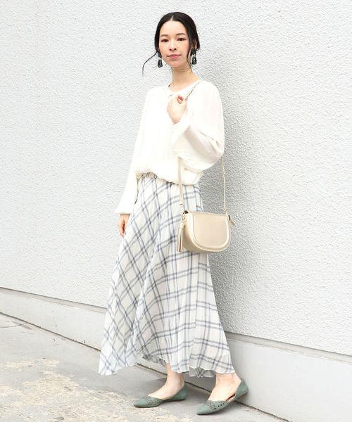 [SHIPS for women] スプリングチェックプリーツスカート◆