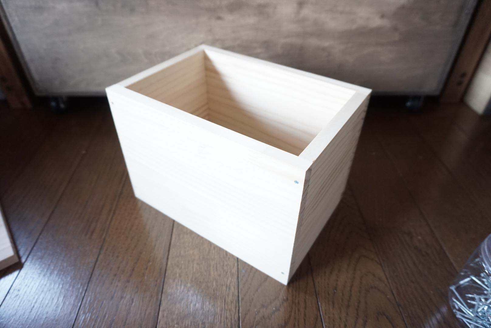 木箱型ミニワゴンdiy3