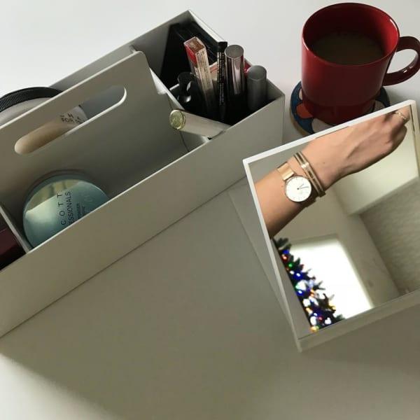 コスメ収納 無印良品 ポリプロピレン収納キャリーボックス
