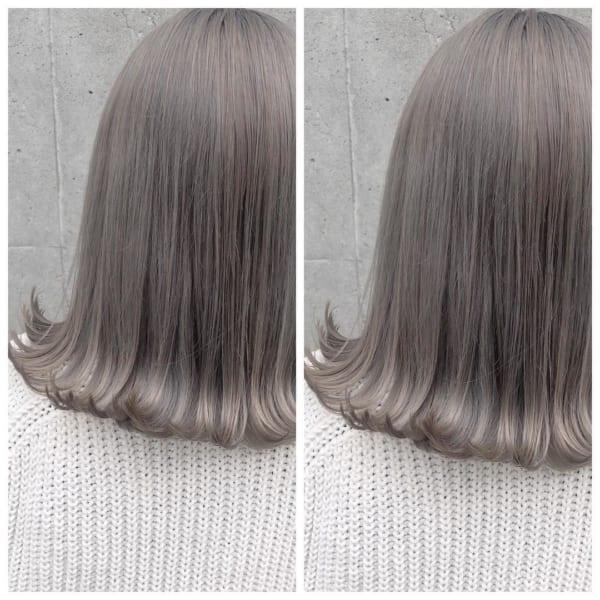長めボブのおしゃれなヘアスタイル38