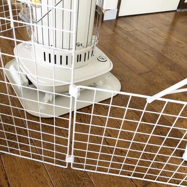 ダイソーのワイヤーネット 小型犬用仕切り6