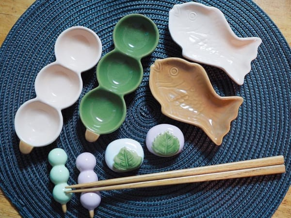和菓子モチーフ食器&箸置き(3COINS)