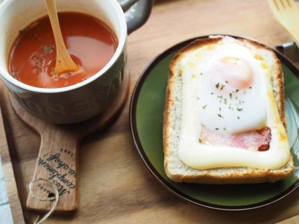 朝ごはん カフェ風盛り付け6
