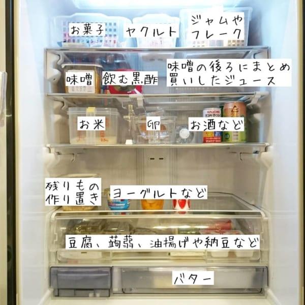冷蔵庫収納 余白の一段を作る
