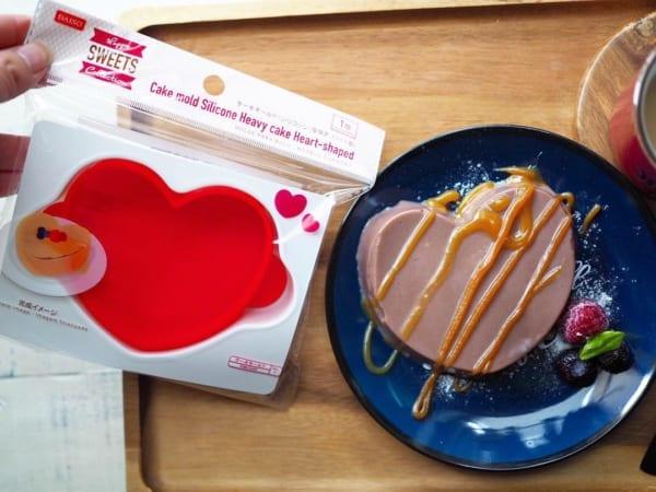 ダイソー ケーキモールド バレンタイン チョコプリン