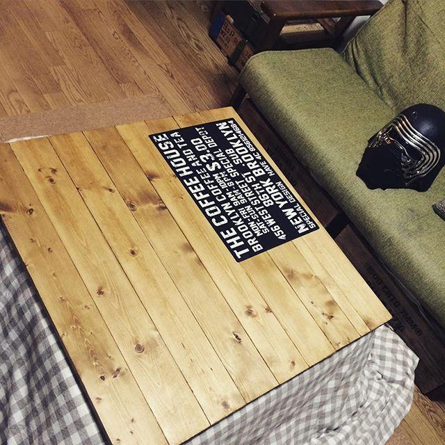 机DIY リビング ダイニングテーブル13