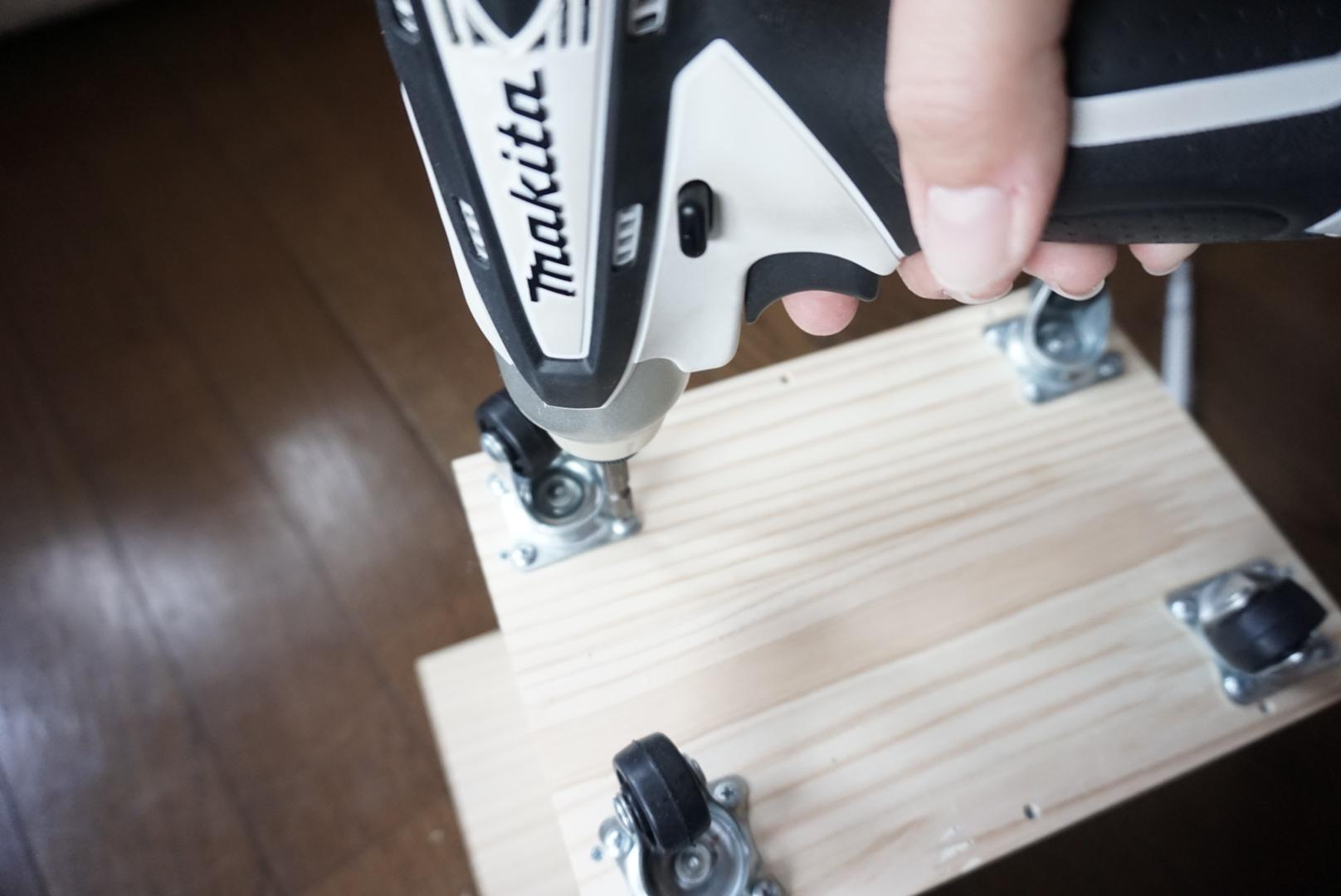 木箱型ミニワゴンdiy7