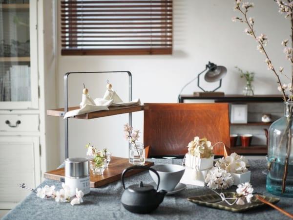 ひな祭りディプレイ DIY テーブルコーディネート2