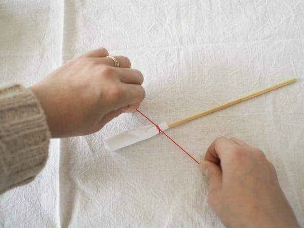 ひな祭りディプレイ DIY ぼんぼり 作り方3